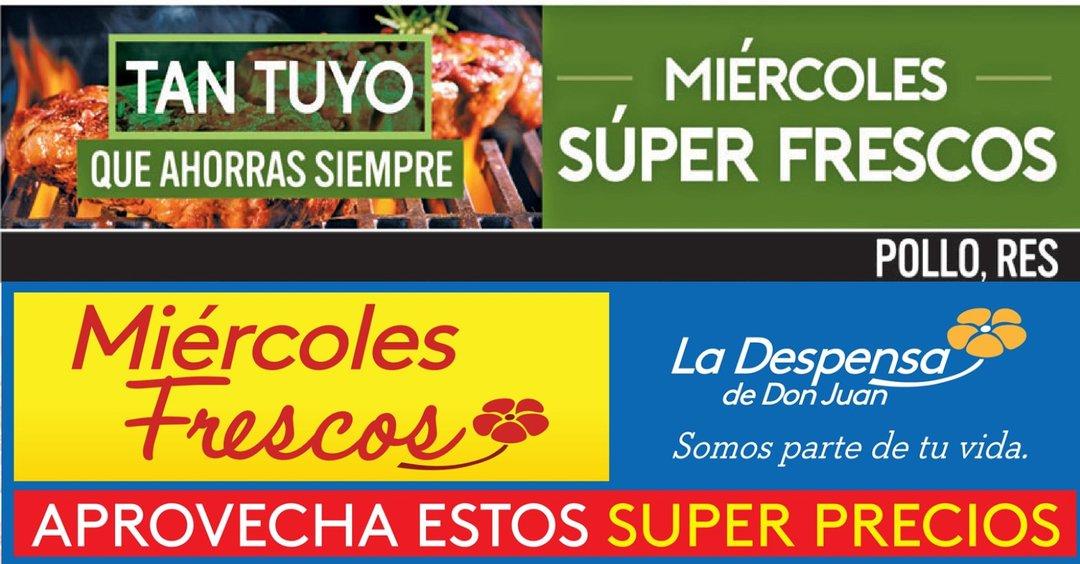 HOY es dia de compras frescas en los SUPERMERCADOS  (28/jun/17)