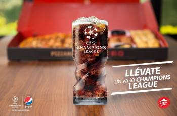pizza hut promocion vaso UEFA champion league
