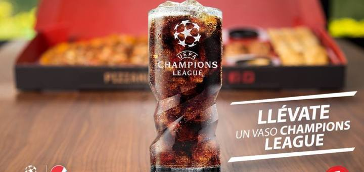 pizza hut promocion vaso UEFA champion league