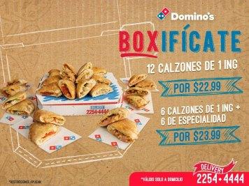BOX Dominos 12 calzones para disfrutar
