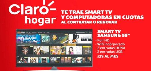 CLARO HOGAR tiene televisores laptops y consolas de video