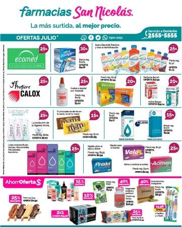 SAN NICOLA farmacias disponibles sus descuentos de julio 2017