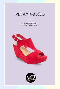 ofertas en calzado de alto color rojo