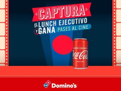 promocion DOMINOS y coca cola JULIO 2017