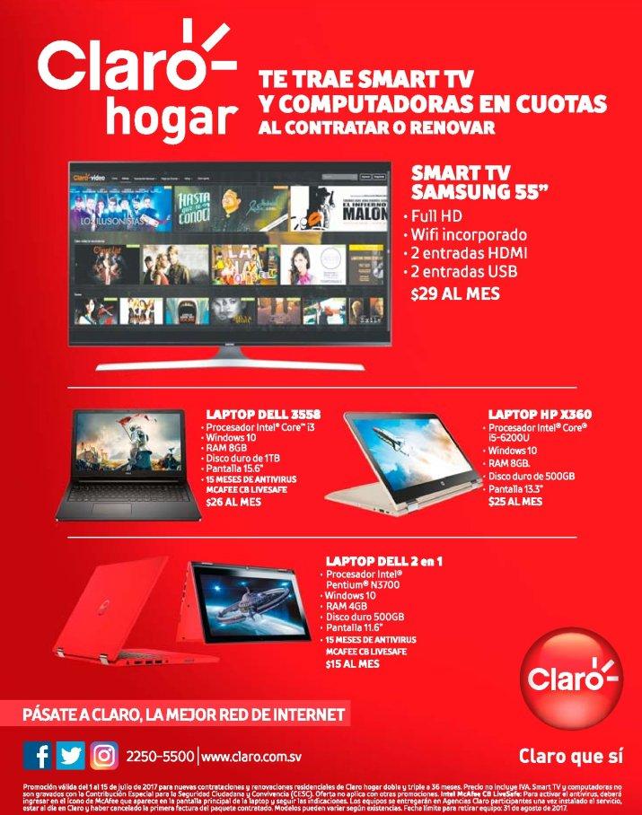 promociones CLARO un SMART TV de 55 pulgadas para tu casa
