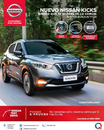 NISSAN KICKS drive to the future GRUPO Q el salvador