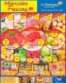 REBAJAS en uvas manzanas papas carnes LA DESPENSA - 23ago17