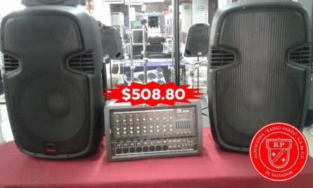 radio parts Combos de bocina y amplificador de 8 canales