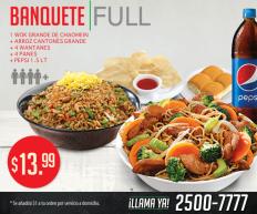 Banquete FULL WOK para 4 personas de china wok sv