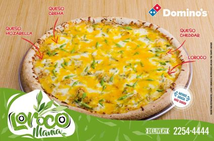 Especialidad de loroco de dominos pizza el salvador