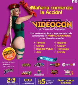 VIDEOCON el salvador 2017 cosplay virtual reality video games