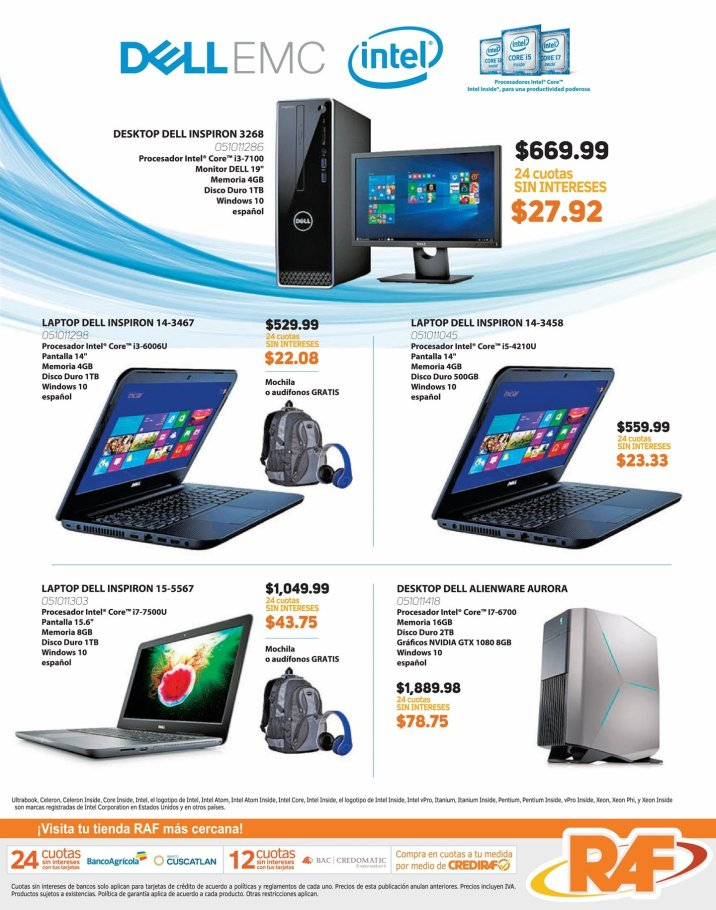 DELL EMC deals laptop and desktop computers