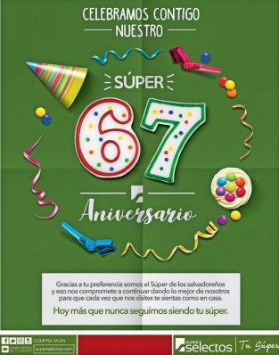 INIVTACION para ahorrar con supermercados super selectos en su aniversario 2017