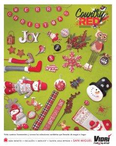 VIDRI el salvador Merry Christmas collection COUNTRY RED