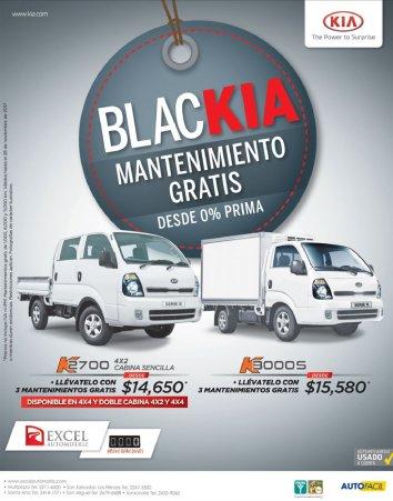 BLACK KIA en modelos de camiones noviembre 2017
