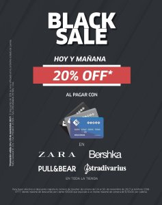 Black Friday 2017 - ZARA - PULL and BEAR - BERSHKA - STRADIVARIUS