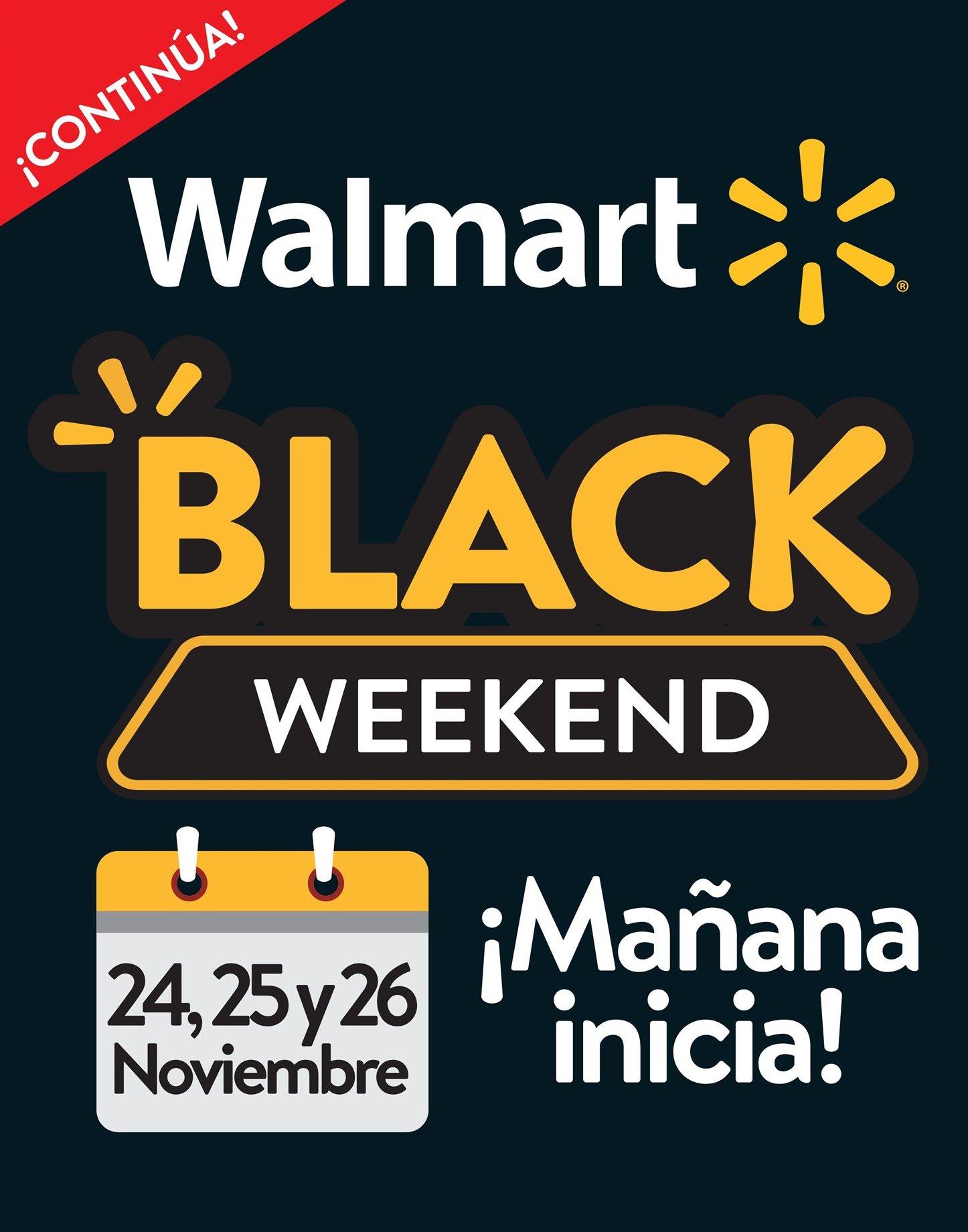 Continua el Black Friday 2017 en la cadena walmart del 25 al 26 de noviembre