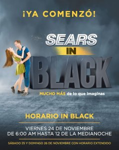 HOrario black friday 2017 de almacenes sears