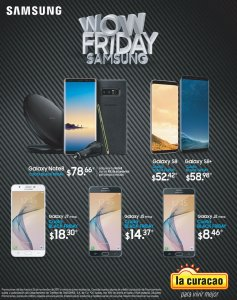 Ofertas Black Friday 2017 SAMSUNG smartphones en la curacao