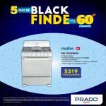 Prado Black finde cocina mabe 6 quemadores 319 dolares