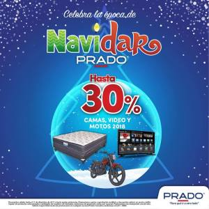 NAVIDAR 2017 de almacenes PRADO 30 off en camas video y motos