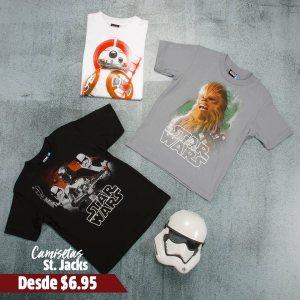 star wars camisetas para que la fuerza te acompane