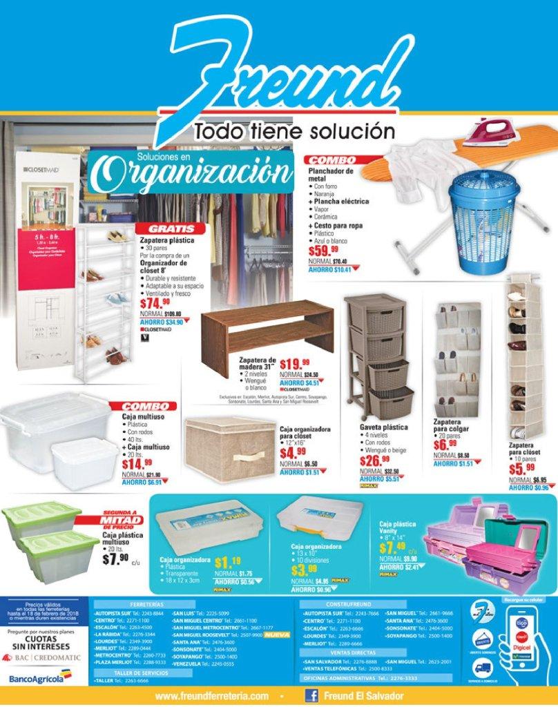 Cajas plasticas organizadores y zapateras ofertas freund enero 2018
