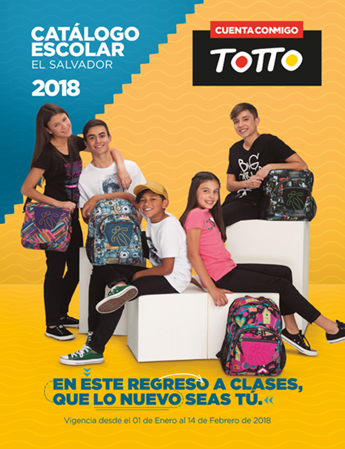 Mochilas TOTTO Catalogo escolar 2018