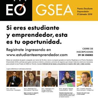 Premio estudiante emprendedor el salvador 2018