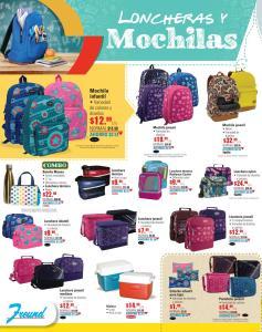 variedad de loncheras y mochilas back to school 2018