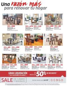 Gran liqquidacion de muebles en almacenes SIMAN 50 off