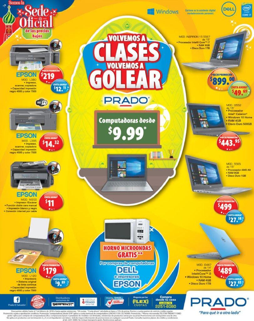 Ofertas en laptops e impresores epson prado almacenes