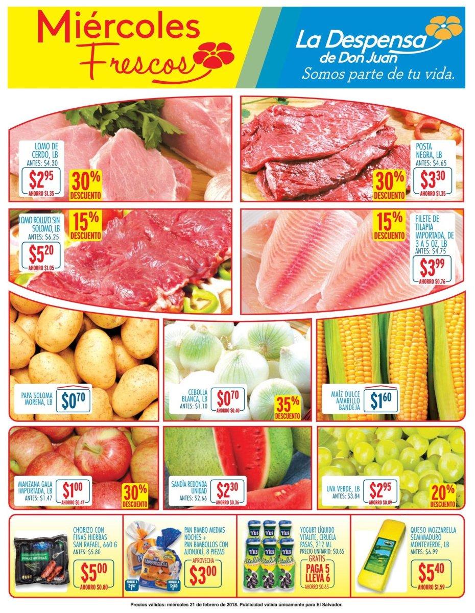 HOY, ofertas de Miercoles Frescos en los SUPER (21-feb-18)