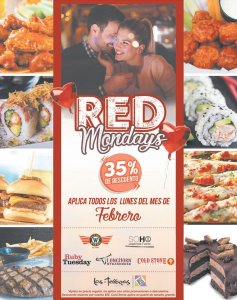 RED mondays promotions en restaurantes de las terrazas