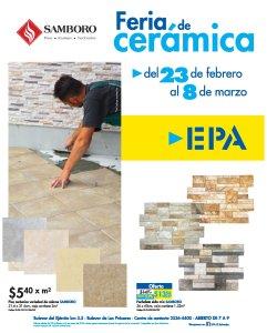 Variedad de pisos ceramicos en ferreteria epa marzo 2018