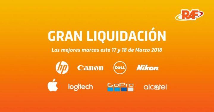 Fin de semana de liquidacion en Tiendas RAF marzo 2018