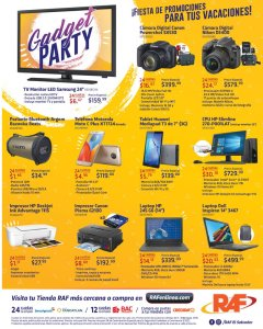 GADGET party electronic camera and other devices