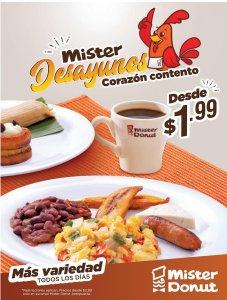 Mister DONUT desayunos de vacaciones de semana santa