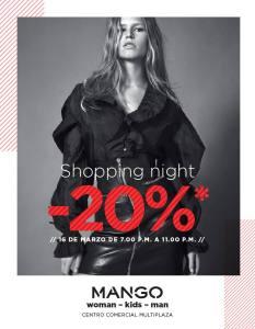 Multiplaza Shopping Night 16 Marzo - MANGO fashion store