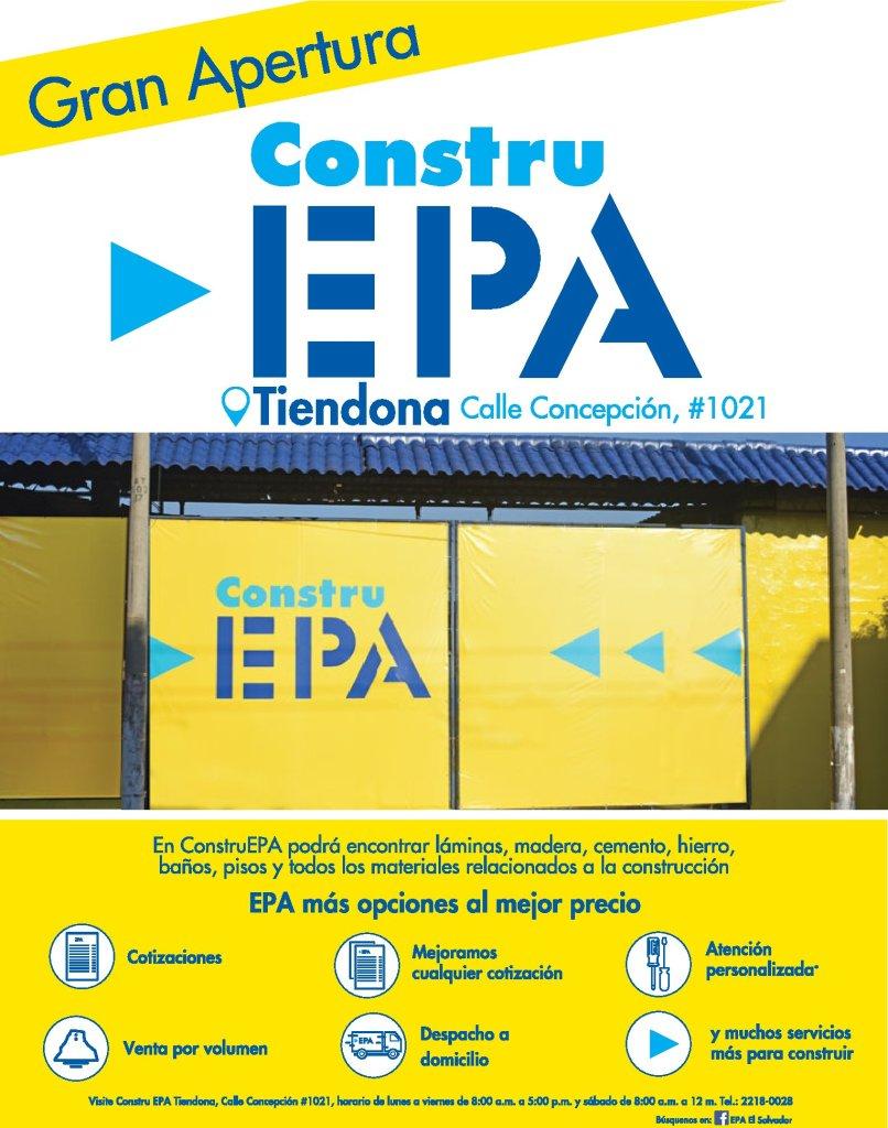 Nueva Tienda EPA construccion en la Tiendona san salvador