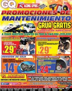Racing Sport auto servicios para tu carro en promocion
