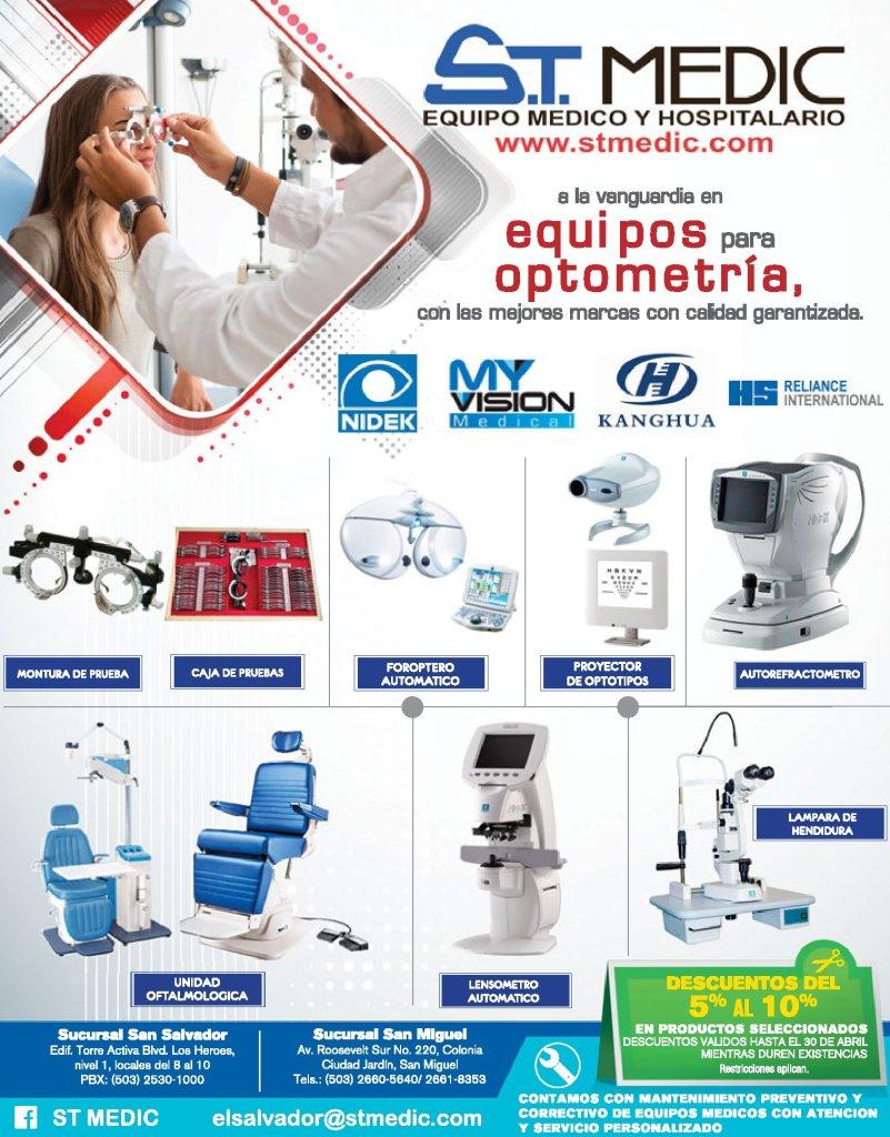 ST Medic disponible equipos para optometria