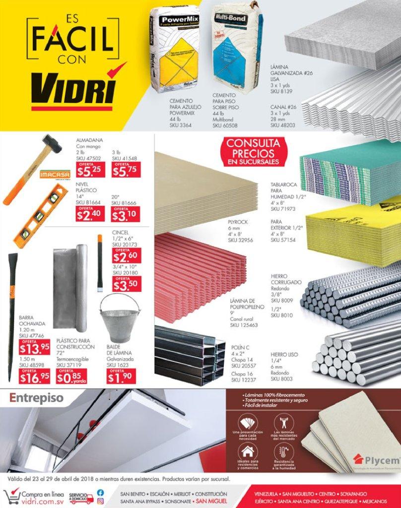 VIDRI Consulta los precios de materiales de construccion