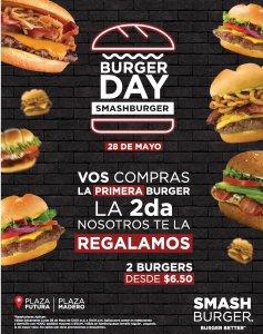 BURGER DAY promotions ahora 28 de mayo 2018