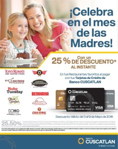 CelEBRA el mes de la madres en los siguientes restaurantes