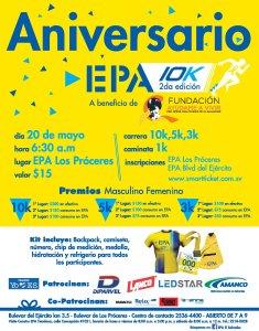 Celebra con EPA su aniversario 2018 con la carrera 10K second edition