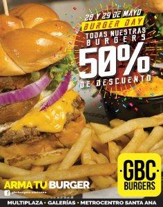 Descuento 50 off al armar tu burger GBC