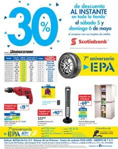 FIN DE SEMANA para comprar llantas en EPA con SCOTIABANK - 04may18