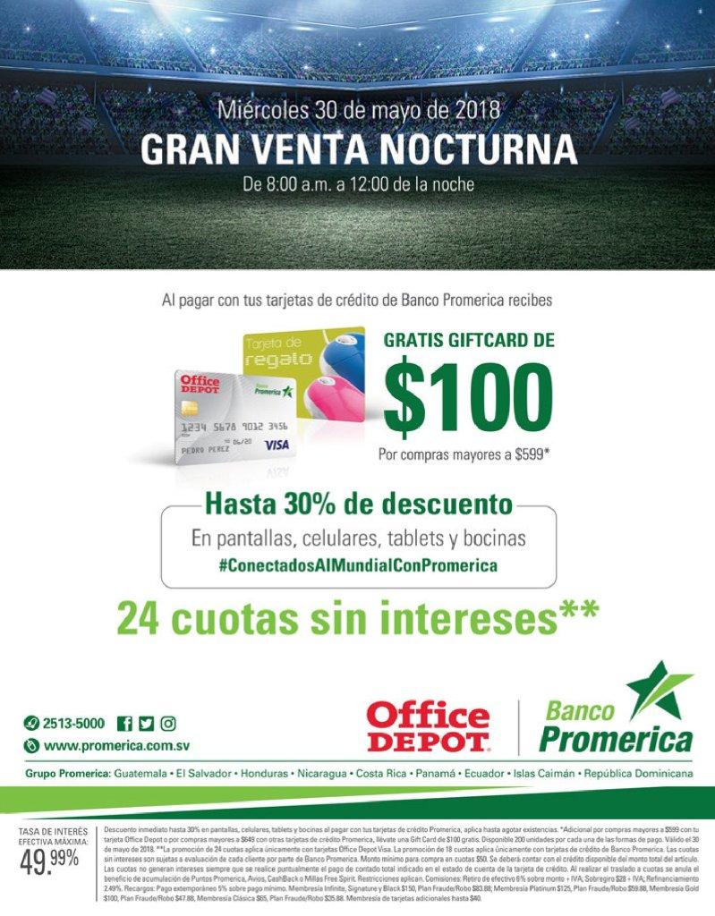 promociones y beneficios banco promerica en office depot