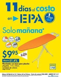 11 dias al costo en FERRETERIA EPA - ahora planchador - 08jun18